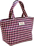 Vagabond Bags Harris Tweed Pink Handled Bag Kulturtasche, 32 cm, (Pink Check)
