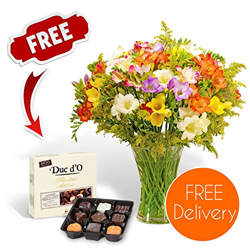 fresh-mothers-day-flowers-delivered-free-uk-delivery-40-mixed-guernsey-freesias-bouquet-with-free-ch