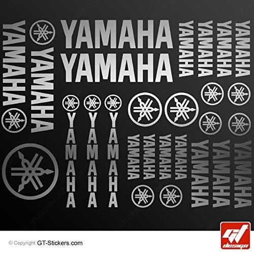 Preisvergleich Produktbild Aufkleber Yamaha–Silber–Brett XXL von 27Sticker, selbstklebend, Aufkleber, gt-design