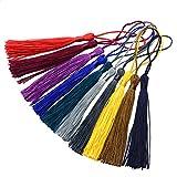 Lacci nani segnalibro 100pcs 13cm / 5 pollici misto seta con 2 pollici cavo loop e piccolo nodo cinese per creazione di gioielli, souvenir, segnalibri, accessori artigianali fai da te