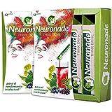 Neuronade® bebida para la concentración I con vitaminas elementales & 7 plantas medicinales (entre ellos ginkgo, brahmi, rhodiola), sin cafeína & vegano – 12 paquetes Think Drink
