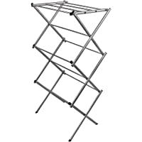 Home Vida Clothes Airer 3 Tier Indoor Horse Laundry Dryer Folding Metal Silver