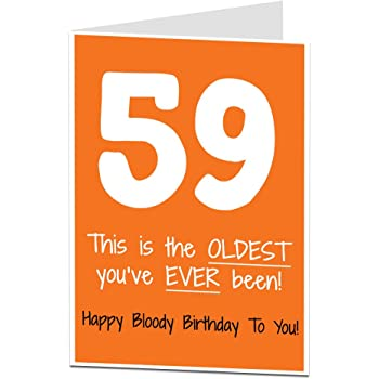 59th Birthday Card 59 Today Funny Design For Men Women