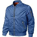 EKLENTSON Mens Coat Casual Warm Thicken Winter Bomber Jacket Long Sleeve with Zipper Pocket