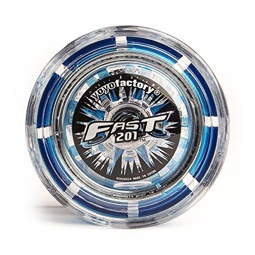 YoYo Factory YO-008–Yoyo Fast 201–Le yoyo professionnel avec système breveté, bleu