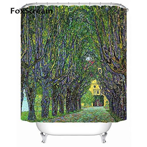 JHTRSJYTJ Gustav Klimt Tenda da Bagno Tenda da Bagno per Il Bagno Tenda da Doccia Impermeabile in Tessuto per Tende da Doccia in Bagno