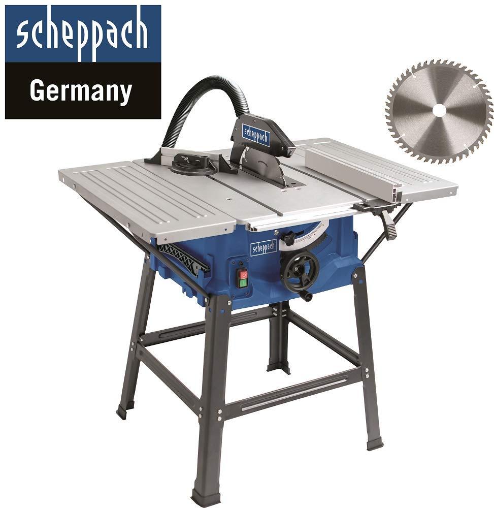 Scheppach HS 100 S Sonderedition Tischkreissäge (2000 W, Sägeblatt Ø 250 x Ø 30 mm, max. Schnitthöhe 85 mm, Tischgröße 940×642 mm)