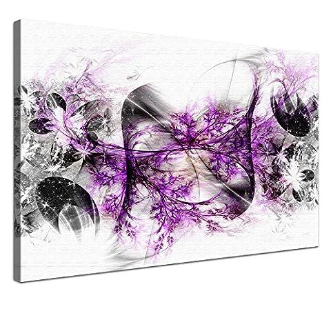 Lana KK - Stars Lila - edel Leinwand Bild Kunstdruck auf Keilrahmen, fertig gerahmt in 60 x 40 cm, einteilig
