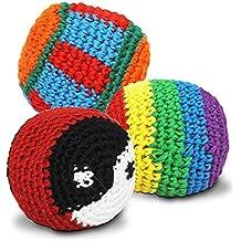 S/o pack de 24 kickball hackey sac de kickball kick ball crochets jongler haki sac de ballons (0310)