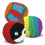42005, 6 Pieza Bola del retroceso, Haciendo malabares con la pelota, Con Cubierta de punto