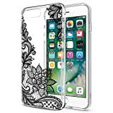 Eouine Coque iPhone 8 Plus, Coque 7 Plus, Etui en Silicone 3D Transparente avec Motif...