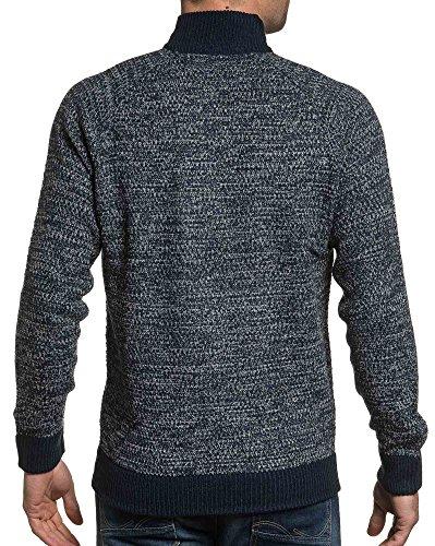 BLZ jeans - Man Pullover Reißverschluss-Netz Kragen Blau