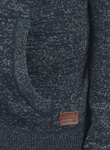 BLEND Danny Herren Kapuzenpullover Strickpullover aus weicher Baumwoll-Mischung Navy