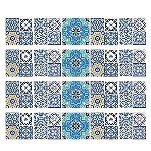 KESOTO 20er Mosaik Fliesenaufkleber Fliesenfolie Fliesensticker Küche Bad Auswahl - A 15x15cm