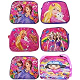 Gifts Online Cartoon Printed Sling Bags Pack of 6 (for Girls)