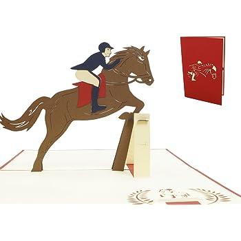 3d Pop Up Karte Pferde Pferdekarte 3d Karte Fur Pferdeliebhaber