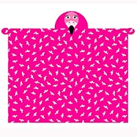T&A Textiles and Hosiery Ltd Flamingo Hooded Fleece Blanket
