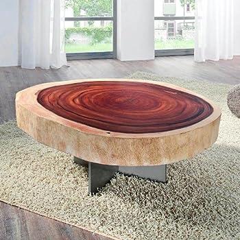 Design wurzelholz couchtisch naga glasplatte 100 cm for Designer couchtisch amazon
