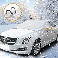 Protezione parabrezza antighiaccio, ikalula impermeabile Pieghevole Anti UV copri parabrezza auto antighiaccio anti graffio Robusto Copriauto per auto per la maggior parte dei veicoli(240 x 160cm)