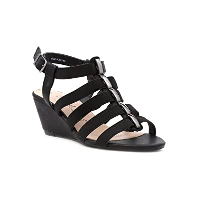 8e2cbb6cd2 Comfort Plus Womens Black Wide Fit Wedge Sandal: Amazon.co.uk: Shoes & Bags