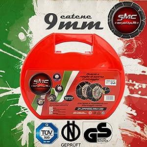 CATENE DA NEVE OMOLOGATE SMC 9mm PER PNEUMATICI 195/45 R 16 GRUPPO 60