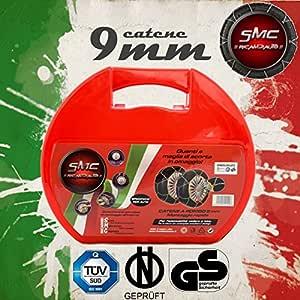 SMC Catene da Neve OMOLOGATE 9mm per GOMME 215//55 R 18 Gruppo 120