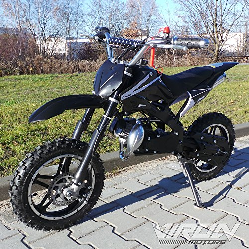 Pocketbike 49cc Enduro Pocket Cross Bike Mini Motorrad Minibike Dirtbike (schwarz)