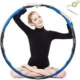 KUYOU Hula Hoop per la riduzione del peso, pneumatici con schiuma e pesi regolabili, larghezza 48 – 88 cm, peso pesante, per