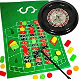 German Trendseller® - Roulette Spiel Komplett - Set mit Roulettrad ┃ Casino ┃ Las Vegas ┃ Glücksspiel ┃ Party Spiel