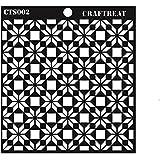 """CrafTreat Flower Tile Stencil 6""""X6"""""""