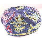 Étoile de David de haute qualité bleu velours Yarmulke Kippa 20 cm
