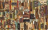 Wh-Porp Benutzerdefinierte Englisch Alphabete 3D Murals 3D Holzplatten Tapete Murals 3D Fototapete Fototapete Für Hintergrund-128Cmx100Cm