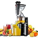 Estrattore di Succo a Freddo, Aicok Estrattore Frutta Verdura Slow Juicer, Bocca larga 75mm Estrattore completo, Alto Valore