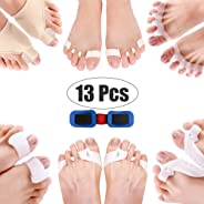 Corrector Big Toe 13 Pcs Bunion Toe Separators Straightener Silicone Thumb Valgus Correction Kit Pain Relief Feet Care Tool B