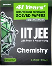 41 Years' Chapterwise Topicwise Solved Papers (2019-1979) IIT JEE Chemistry