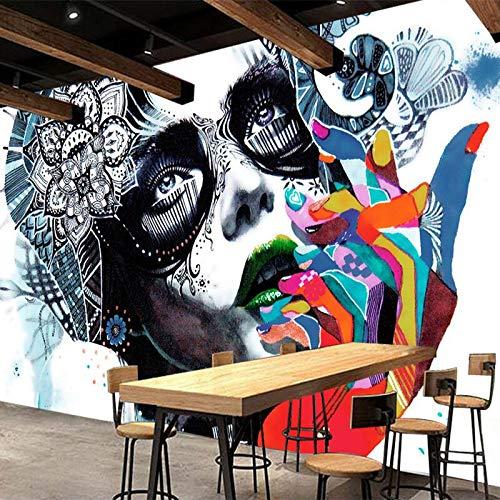 KTV Bar Cafe Entertainment 3D Wandbild Personalisierte Anpassung Bunte Figur Foto Wallpaper Modernes kreatives Papel Wandbild