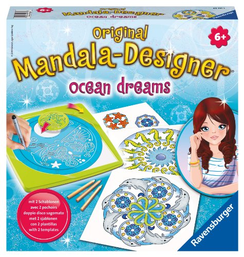 Preisvergleich Produktbild Ravensburger 29731 - Ocean Dreams 2 in 1 - Midi Mandala-Designer