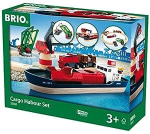 BRIO® Bahn 33061 - BRIO Container Hafen Set, 16 Teile
