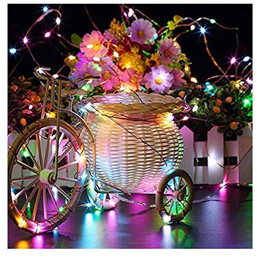 tte Batterie Lichterkette mit Fernbedienung Musik Sound Control Light Warmweiß, Lichterkette für Zimmer, Garten, Hochzeit Hochzeit Party Weihnachten (Mehrfarben) ()
