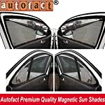 Autofact Magnetic Sun Shades are used to protect your car from external heating of Sun and gives clear visibility. These are made of size that is slightly bigger than your car window, so that its magnet can be easily get attached to the metallic fram...