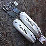"""SIMPLA 12"""" Zoll Kido Chopper Kinder Schutzblech Set Kids Fahrrad Weiß Titan-Grau (Weiß)"""