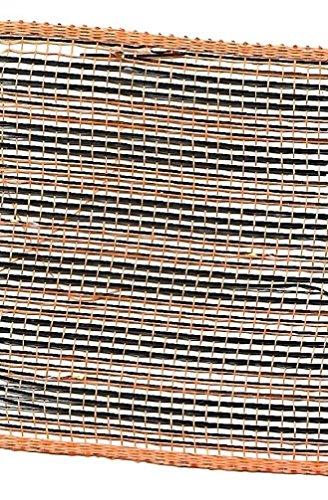 �cm breit Halloween Thema Craft Nähen Mesh Band Trim, 5Meter 5 Yards Orange/Black Stripes ()