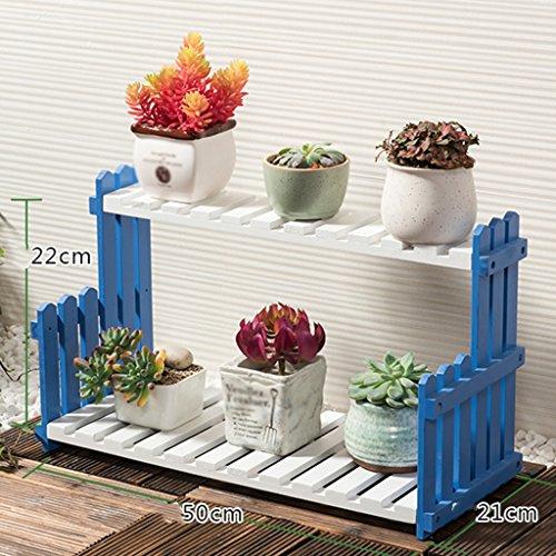 ZCJB Etagères de plantes Solide Bois Fleur Stand Salon Balcon Floorstanding Multi-couche Fleur Pot Rack Intérieur Simple Plantes Grasses (taille : 50 cm)