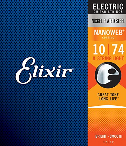 Elixir 12062 Nickel Nanoweb Light 8-strings für E-Gitarren