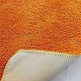 proheim Badematte 2-teiliges Set 50 x 80 und 45 x 50 cm rutschfester Badvorleger Premium Badteppich 1200 g/m² weich & kuschelig Hochflor Duschvorleger, Farbe:Orange - 4