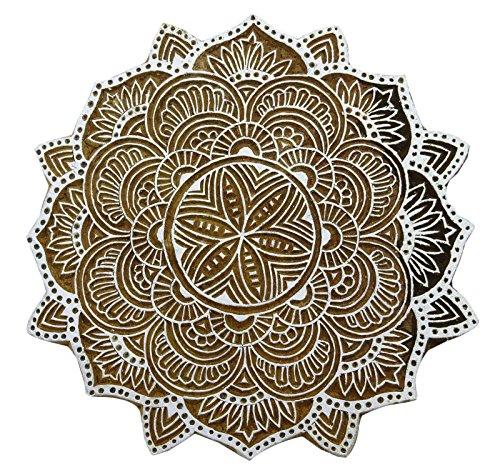 Blumen Indischen Block Handcarved Kunstholzblock Stempeldruck Scrapbook Stempel -