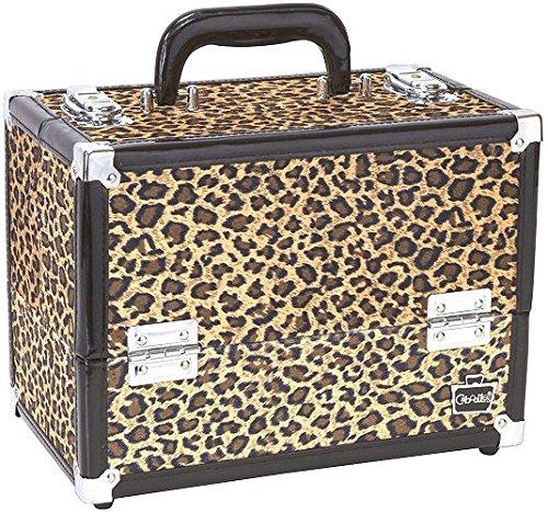 weiche Cheetah Print Große Make-up Kosmetik Organizer   Caboodles Make Me über 4Tablett Zug Fall (Caboodles Große Make-up Fall)