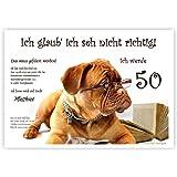 Einladungskarten für runden Geburtstag lustig witzig - kostenloser Eindruck Ihres Textes - 20 Karten, 17 x 12 cm