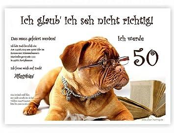Einladungskarten Für Runden Geburtstag Lustig Witzig   Kostenloser Eindruck  Ihres Textes   20 Karten, 17