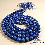 Christmas Sale ! Lapis Lazuli Diamond Mala Gemstone Beads Size-8mm Chakra Healing Stone Free Set Of 3 Clear Quartz Raw